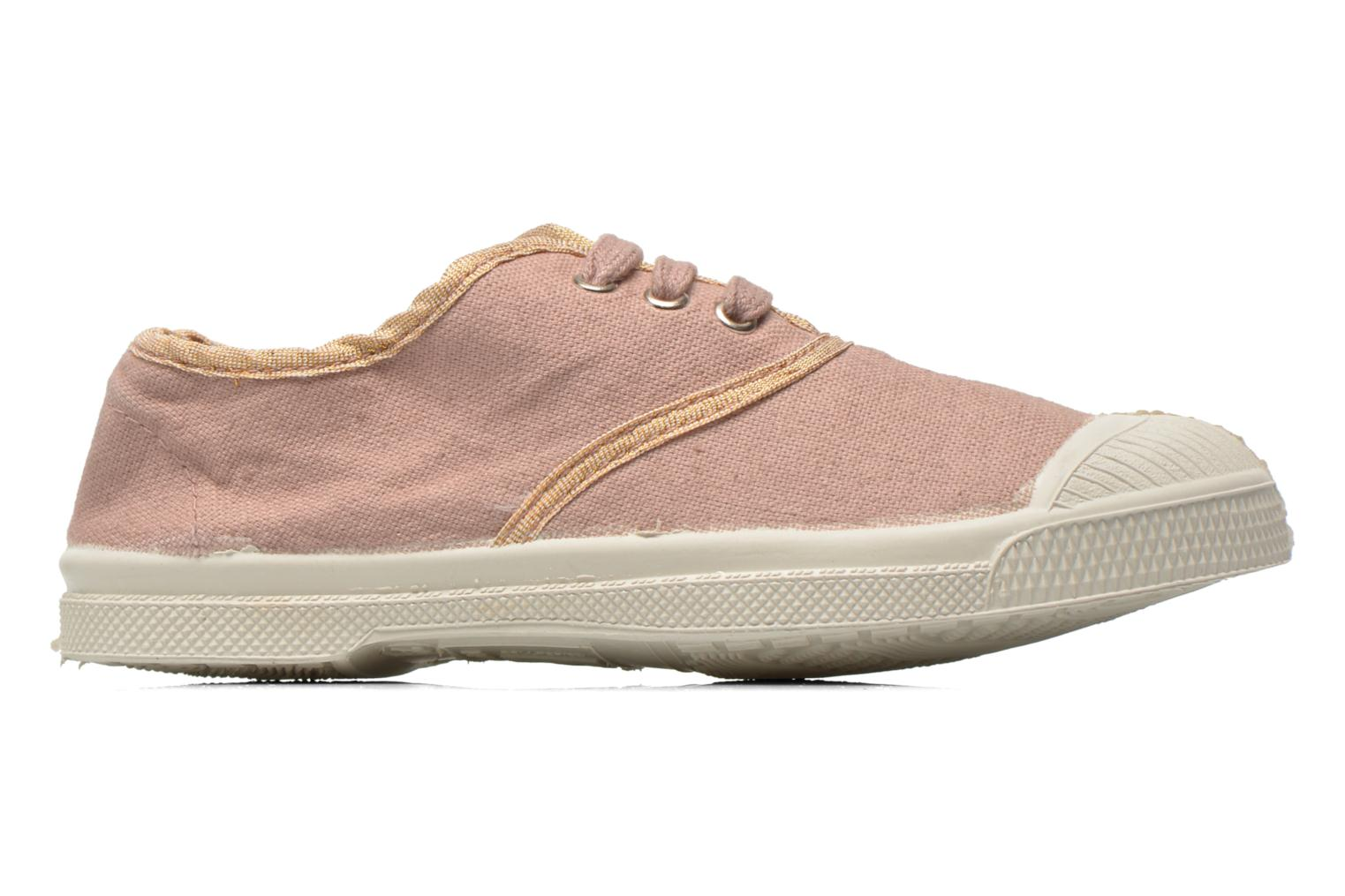 Trainers Bensimon Tennis Lacets Shinypiping E Pink back view