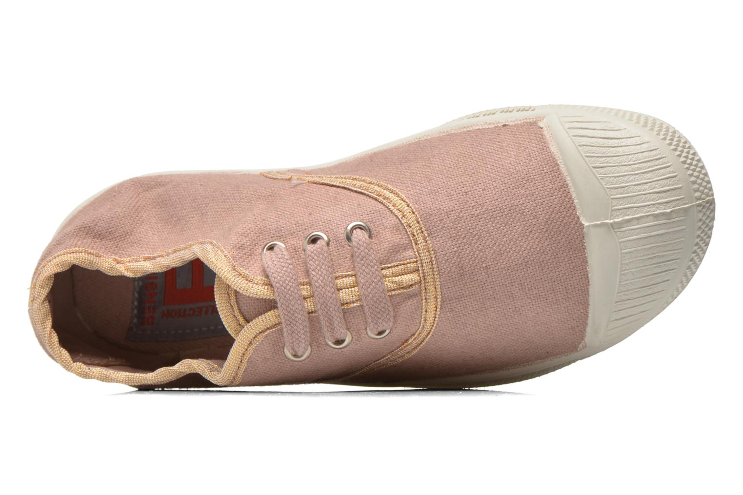 Trainers Bensimon Tennis Lacets Shinypiping E Pink view from the left