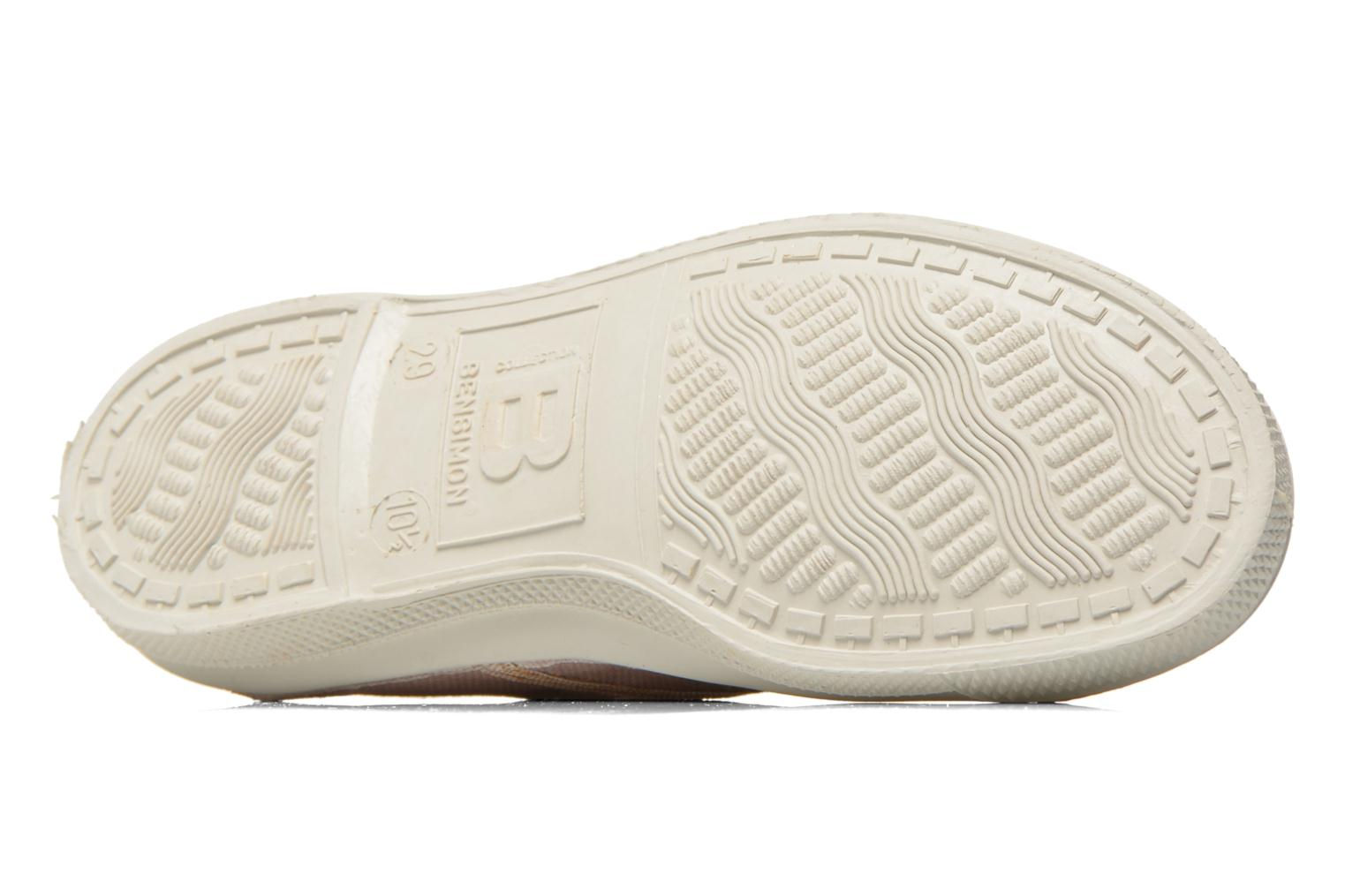 Trainers Bensimon Tennis Lacets Shinypiping E Pink view from above