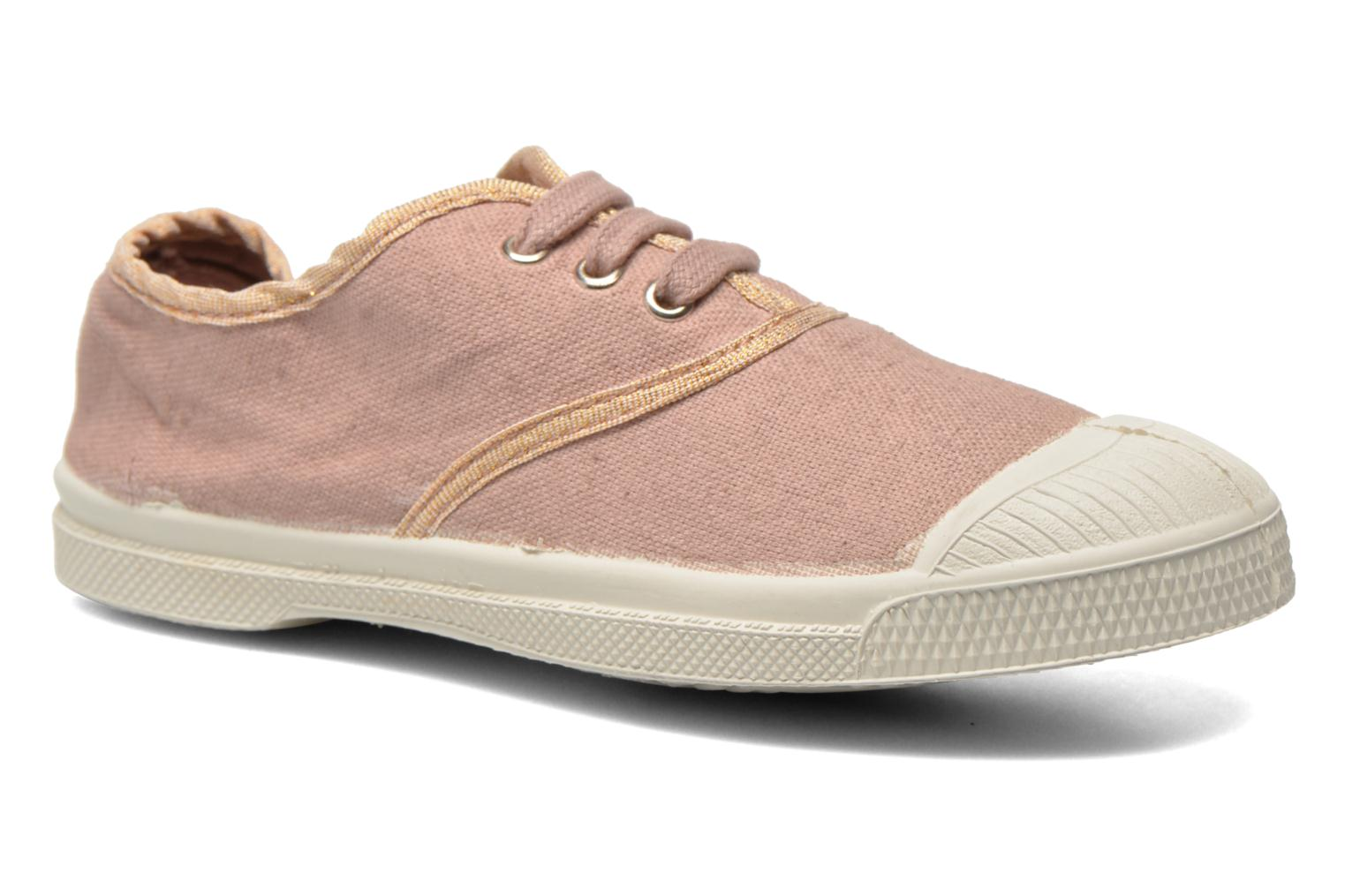 Trainers Bensimon Tennis Lacets Shinypiping E Pink detailed view/ Pair view