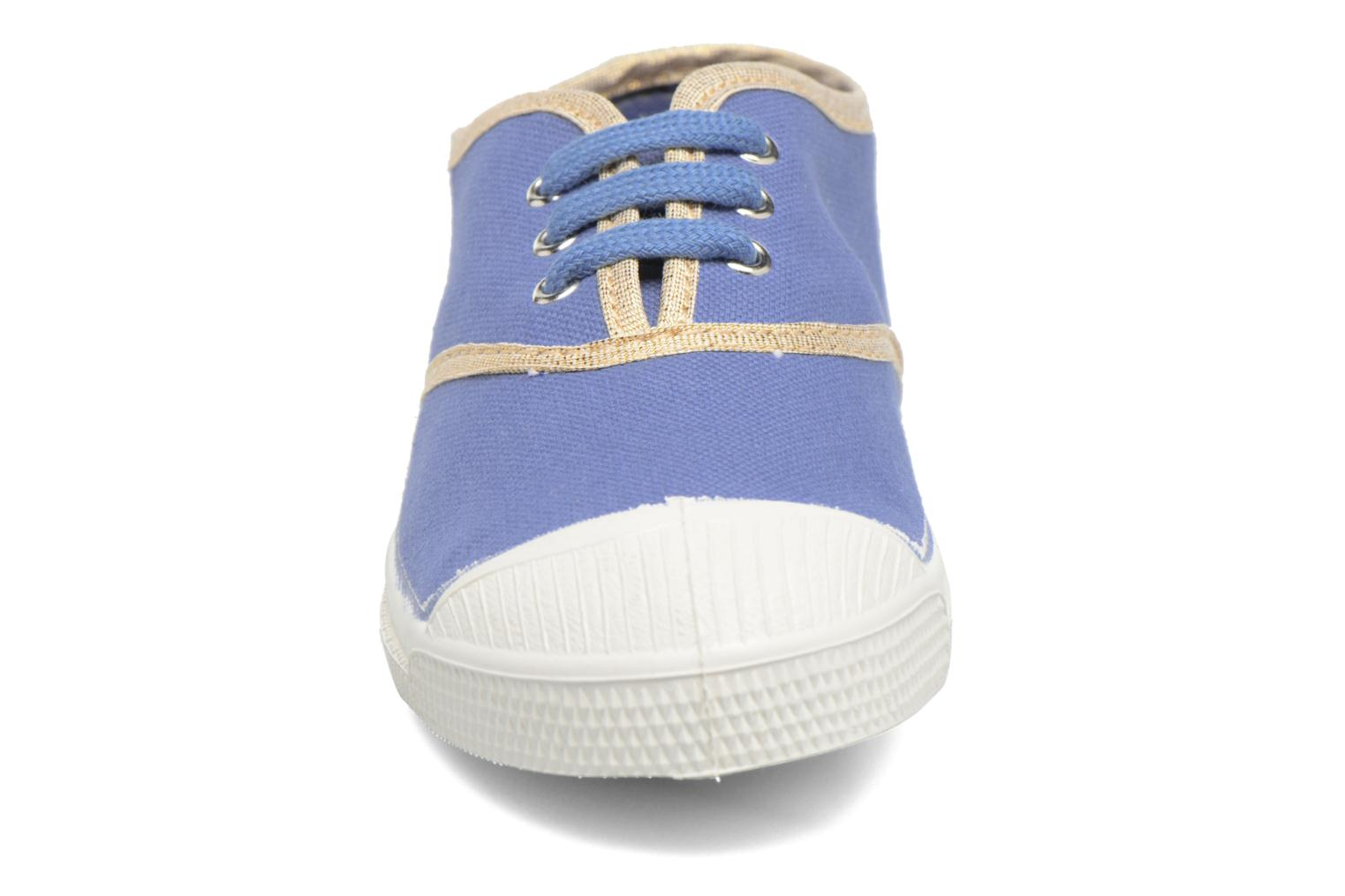 Trainers Bensimon Tennis Lacets Shinypiping E Blue model view