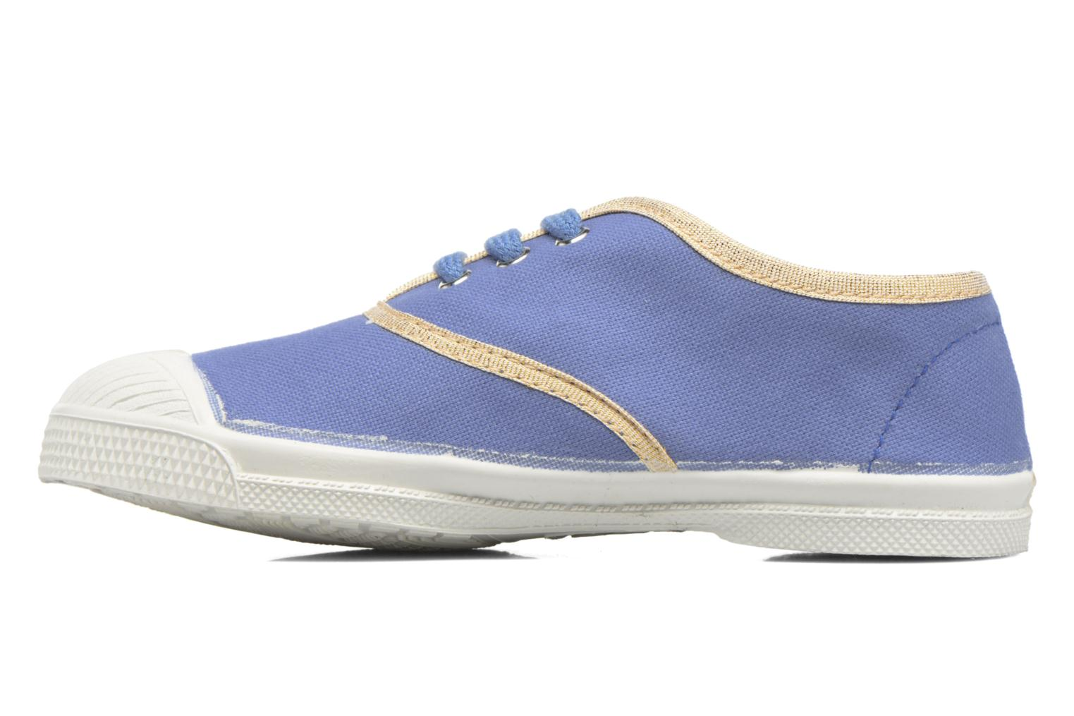 Baskets Bensimon Tennis Lacets Shinypiping E Bleu vue face