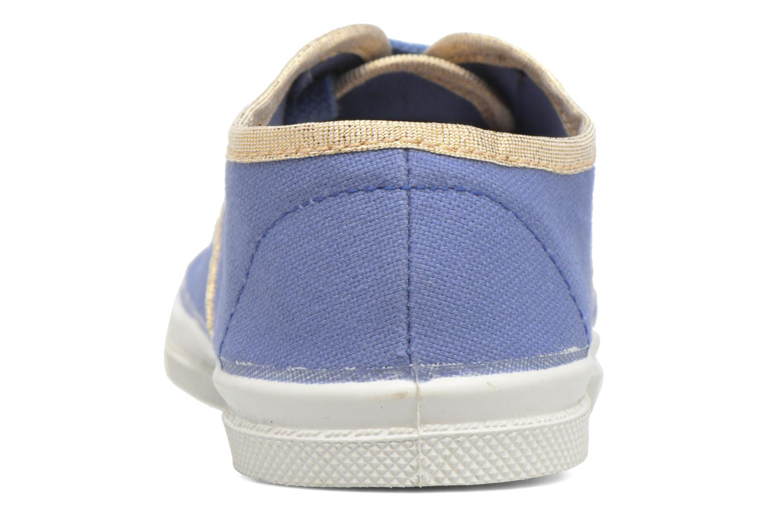Trainers Bensimon Tennis Lacets Shinypiping E Blue view from the right