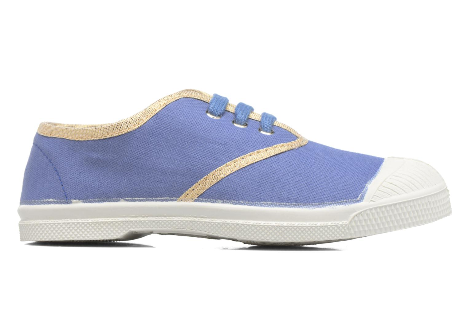 Trainers Bensimon Tennis Lacets Shinypiping E Blue back view
