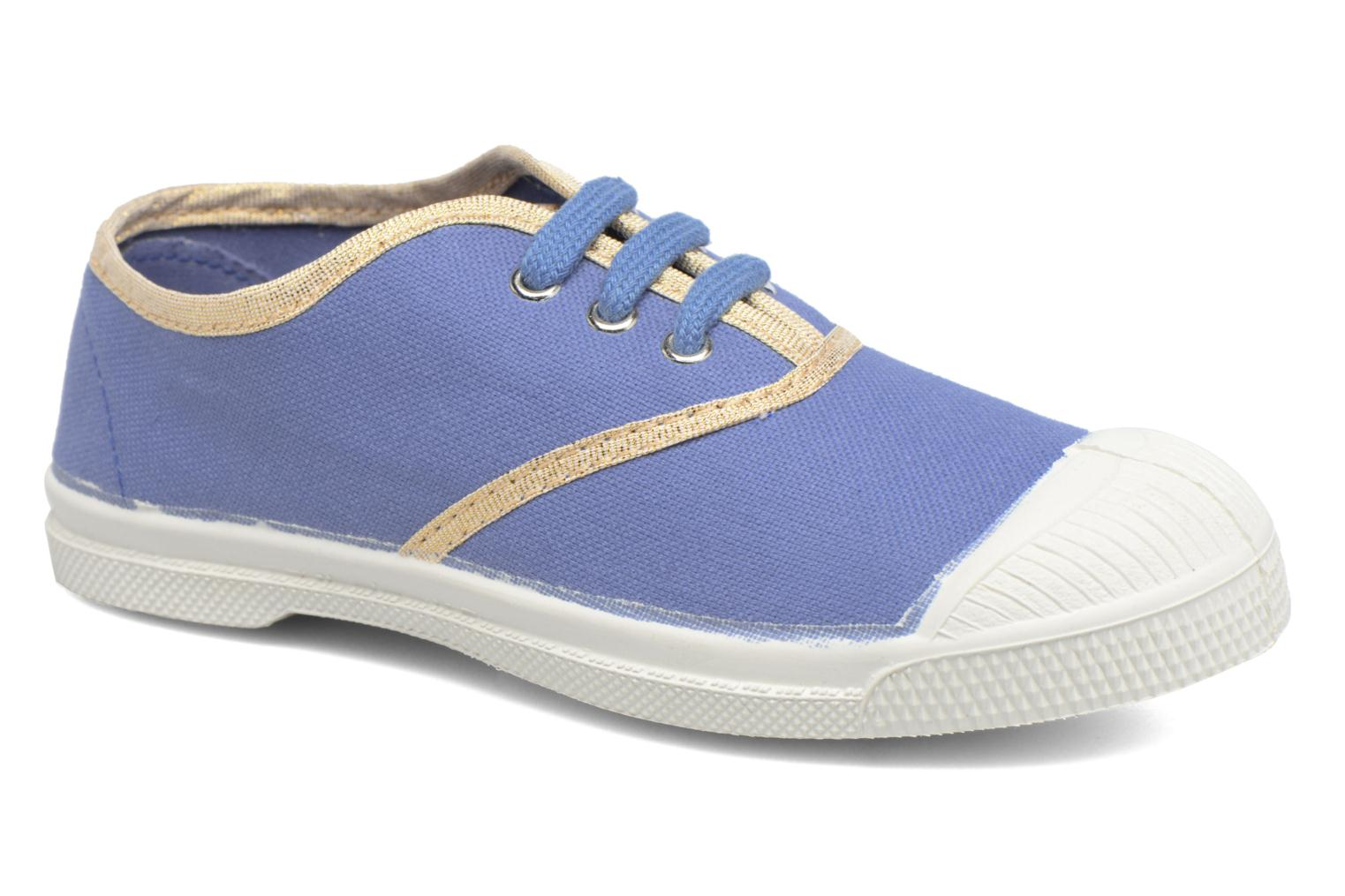 Baskets Bensimon Tennis Lacets Shinypiping E Bleu vue détail/paire