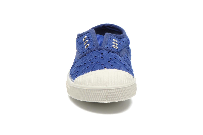 Sneaker Bensimon Tennis Elly Broderie Anglaise E blau schuhe getragen