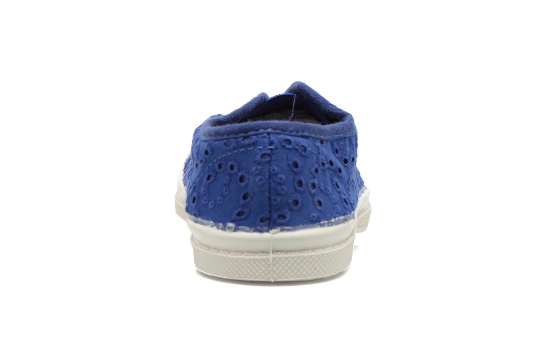 Sneaker Bensimon Tennis Elly Broderie Anglaise E blau ansicht von rechts