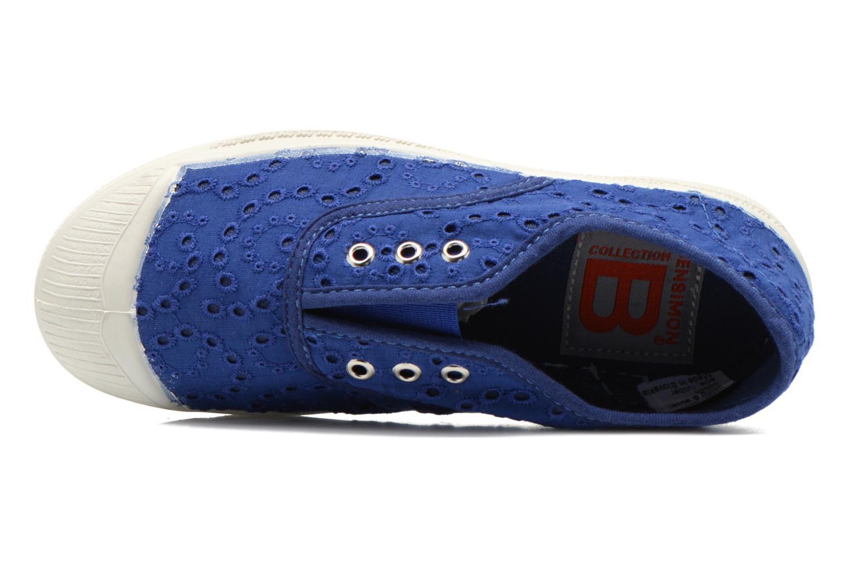 Sneaker Bensimon Tennis Elly Broderie Anglaise E blau ansicht von links
