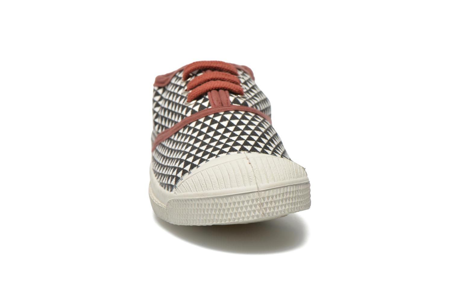 Trainers Bensimon Tennis Milk E Black model view