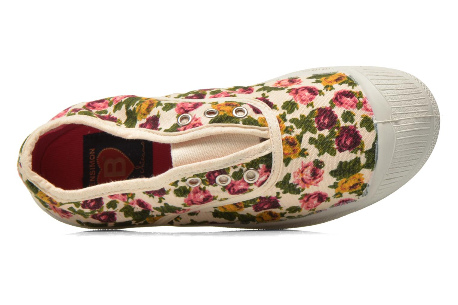 Trainers Bensimon Tennis Elly Fleur E Multicolor view from the left