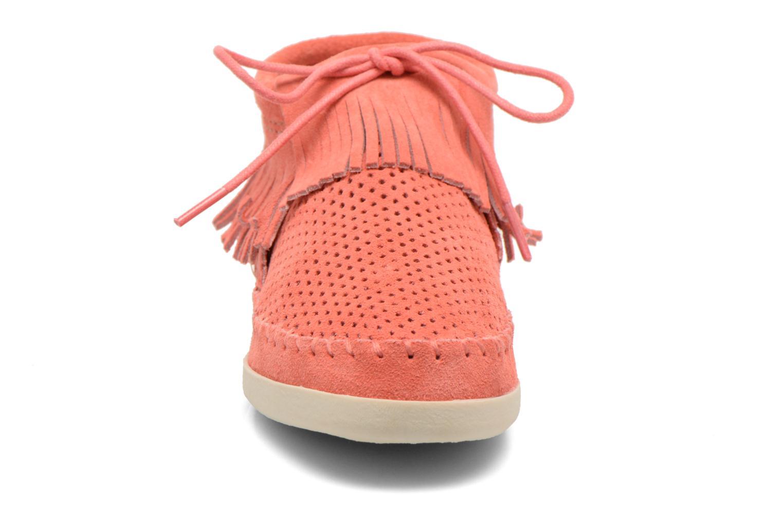Ankle boots Minnetonka Venice Perf Orange model view