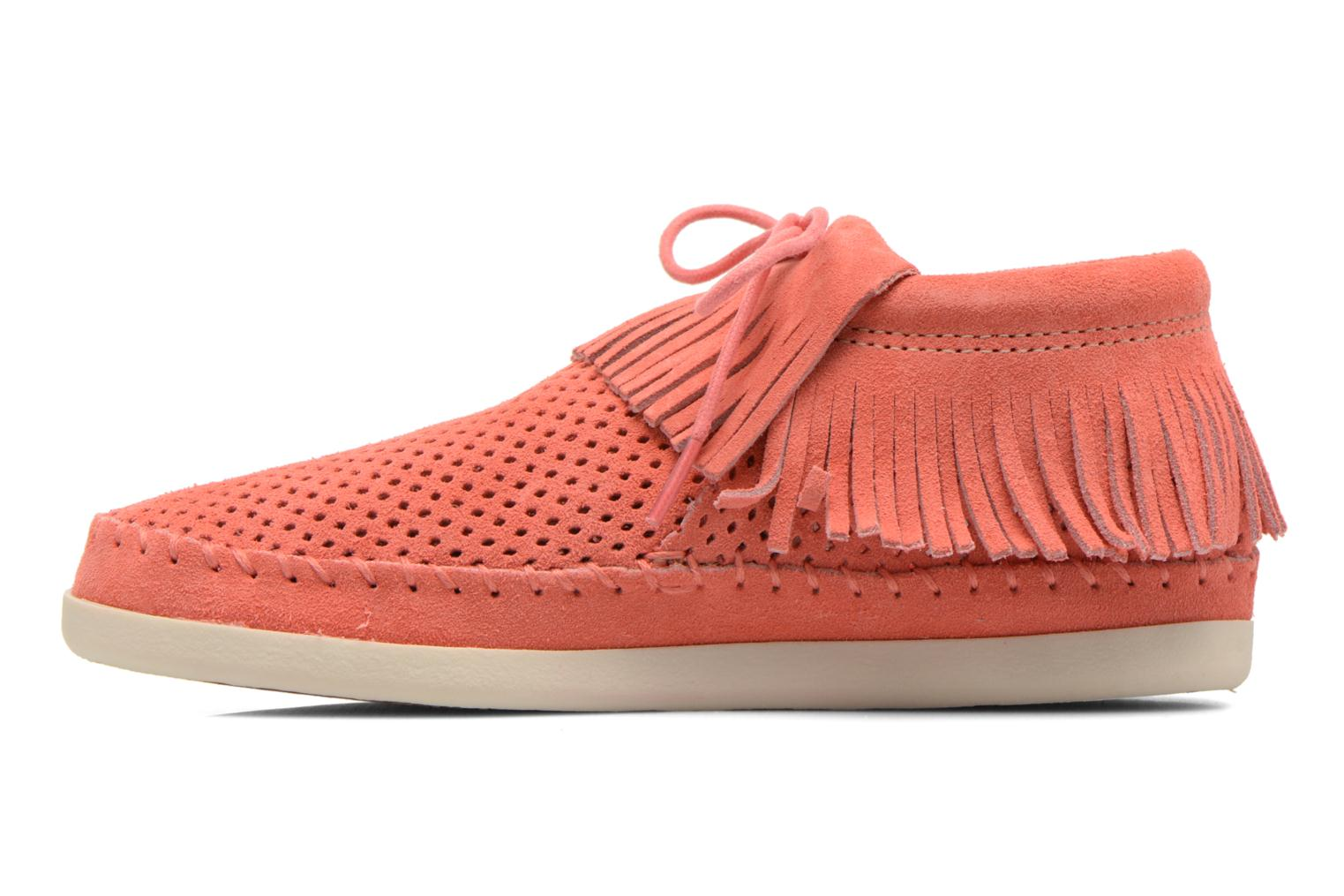 Venice Perf Melon Perforated Suede