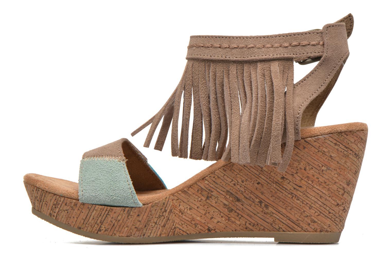 Sandales et nu-pieds Minnetonka Poppy Beige vue face