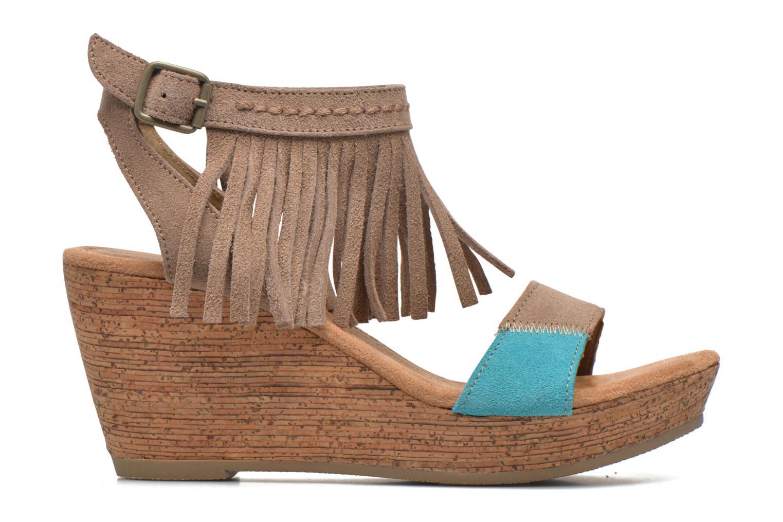 Sandales et nu-pieds Minnetonka Poppy Beige vue derrière
