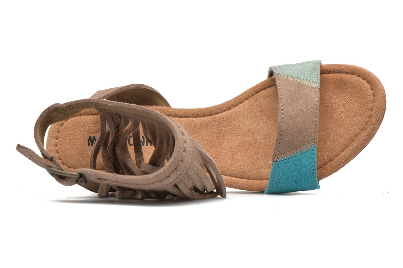 Sandales et nu-pieds Minnetonka Poppy Beige vue gauche