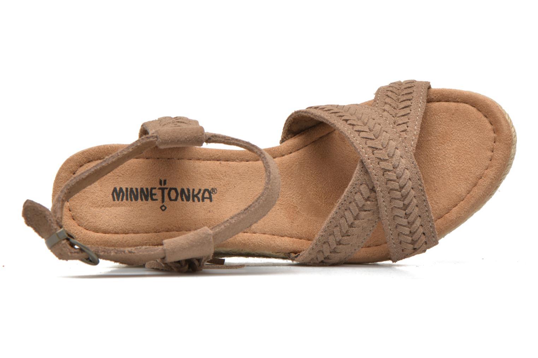 Sandali e scarpe aperte Minnetonka Naomi Beige immagine sinistra