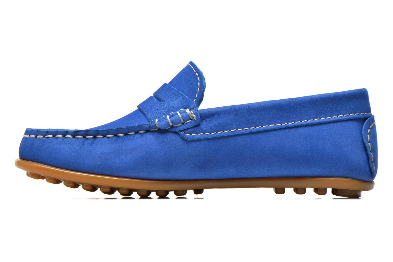 Mocasines Aster Mocadi Azul vista de frente