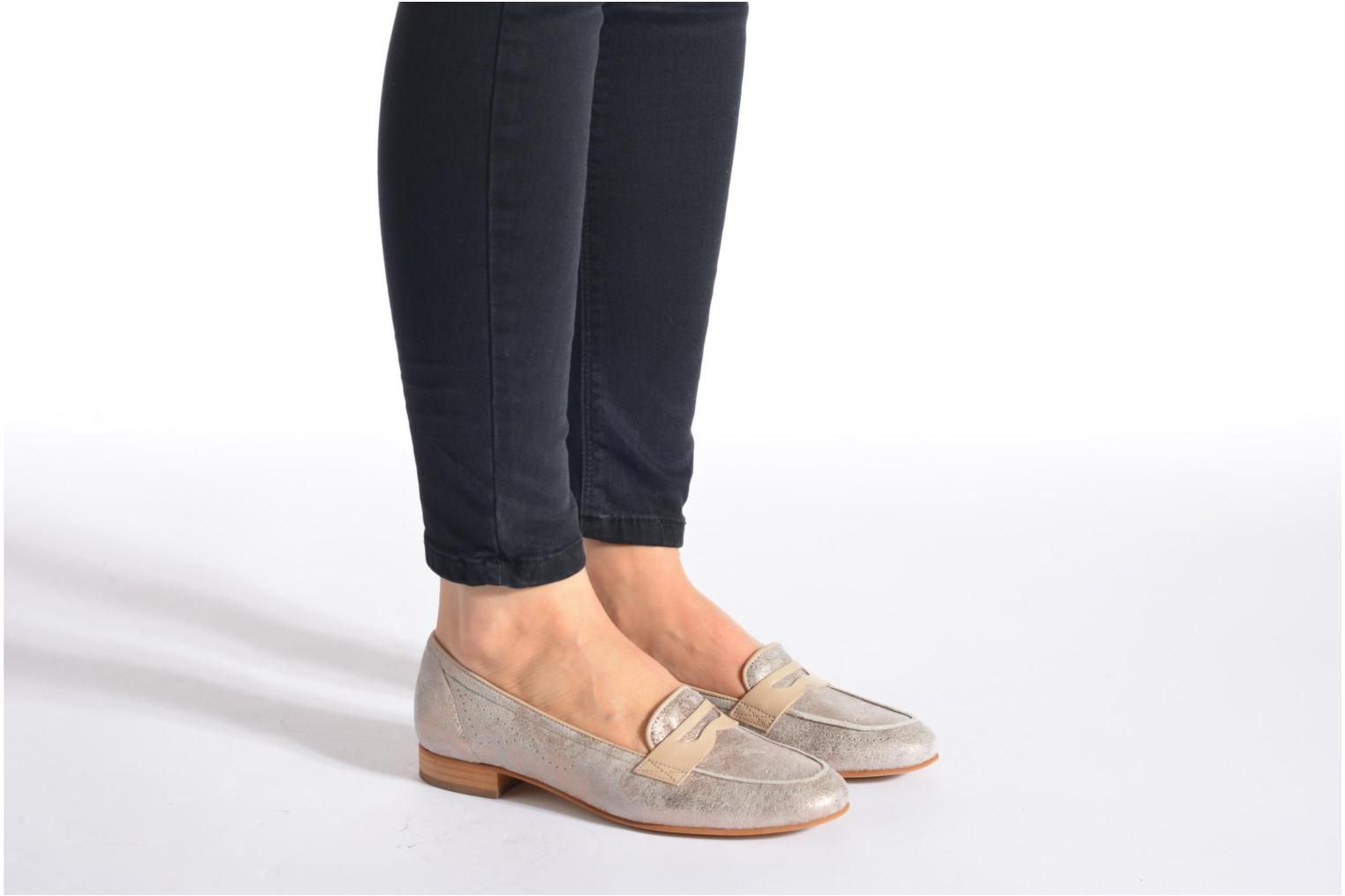 Loafers Muratti Lou-lou Silver view from underneath / model view