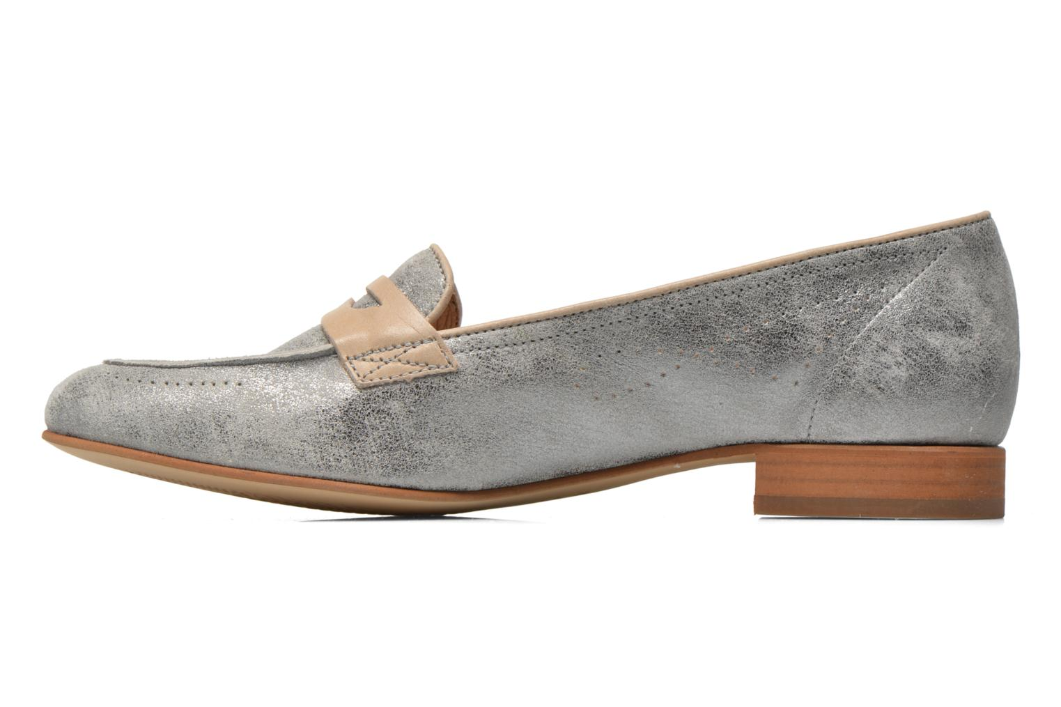 Loafers Muratti Lou-lou Silver front view
