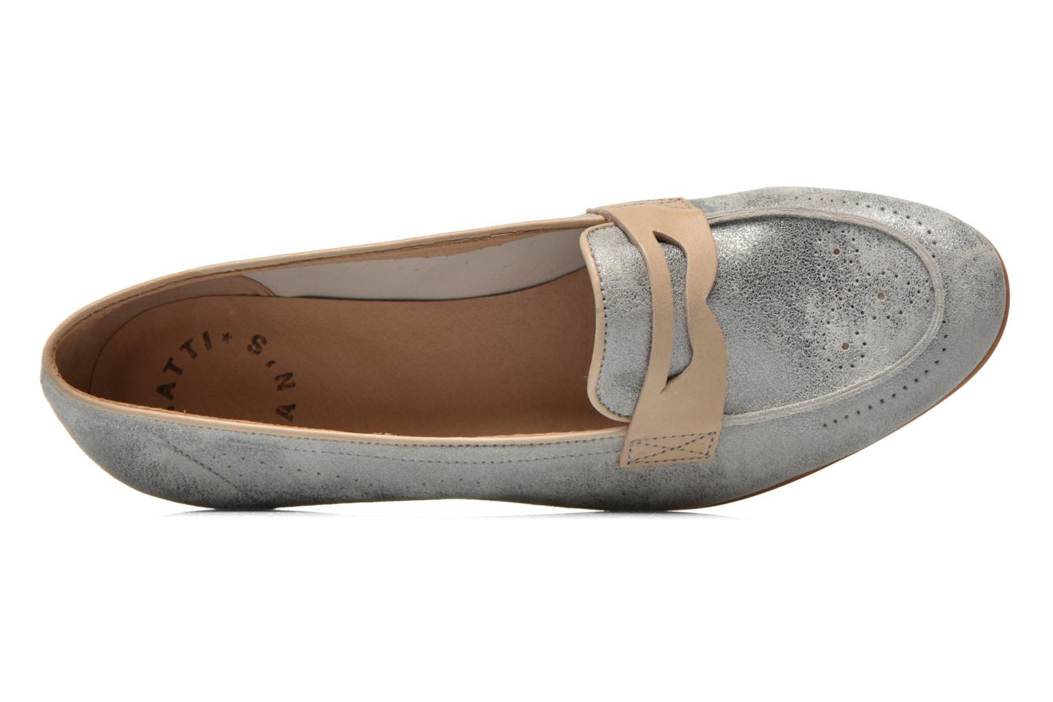 Loafers Muratti Lou-lou Silver view from the left