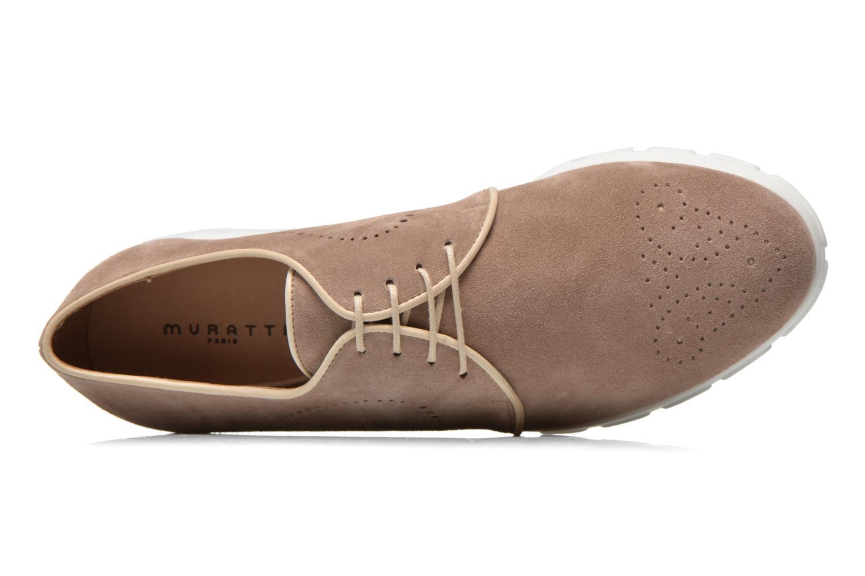 Zapatos con cordones Muratti Roche Beige vista lateral izquierda