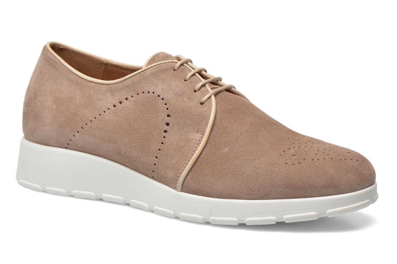 Zapatos con cordones Muratti Roche Beige vista de detalle / par