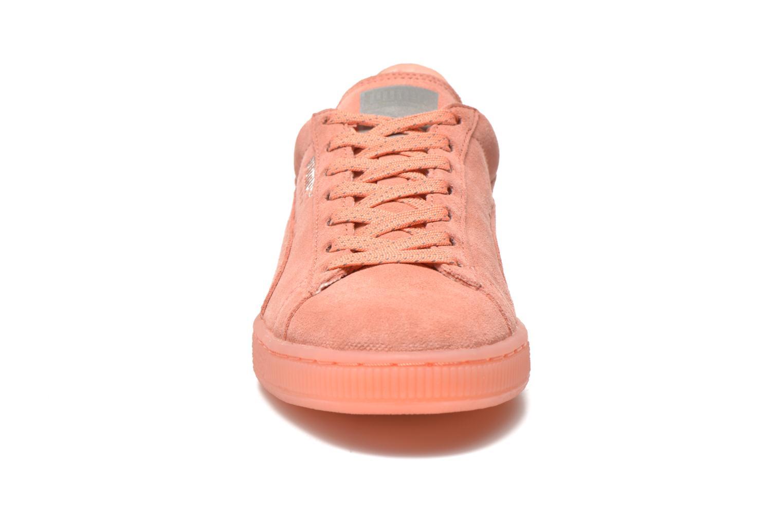 Sneaker Puma WNS Suede Mono Ref rosa schuhe getragen