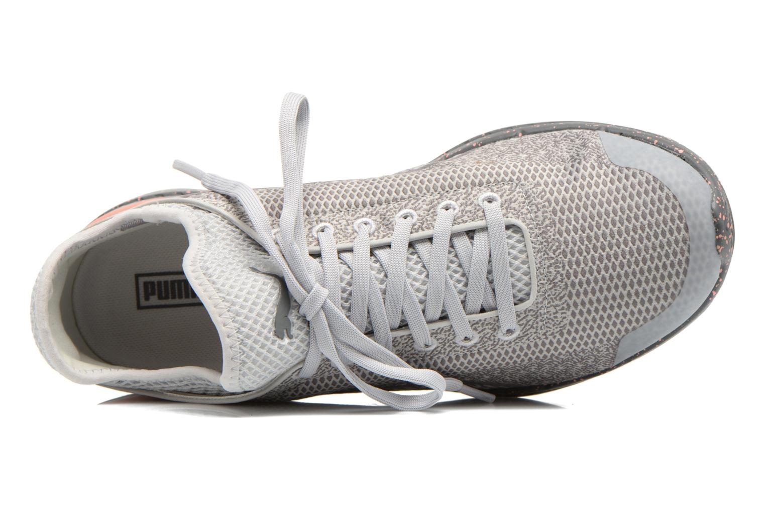 Sneaker Puma WNS Ignite Sock Woven grau ansicht von links