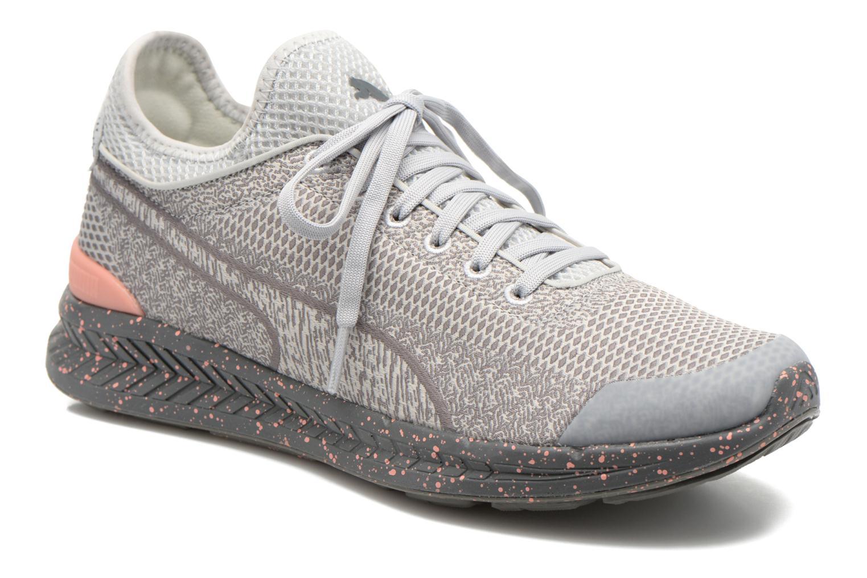 Baskets Puma WNS Ignite Sock Woven Gris vue détail/paire