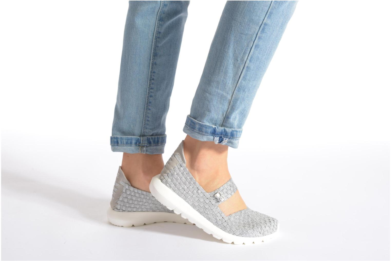 Sneaker DUDE E-last Tessa blau ansicht von unten / tasche getragen