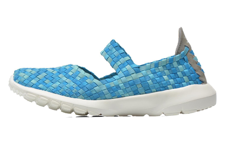 Sneakers DUDE E-last Tessa Blauw voorkant