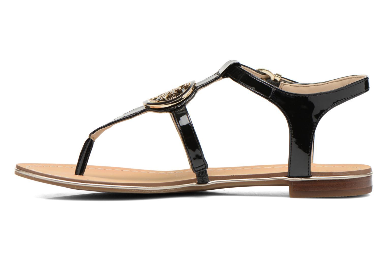 Sandalen Guess Roxxie schwarz ansicht von vorne