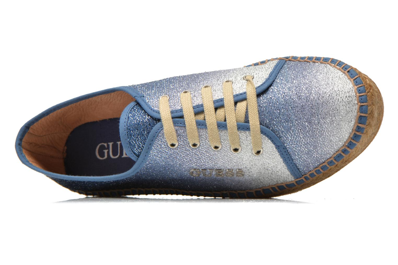 Sneakers Guess Renan Azzurro immagine sinistra