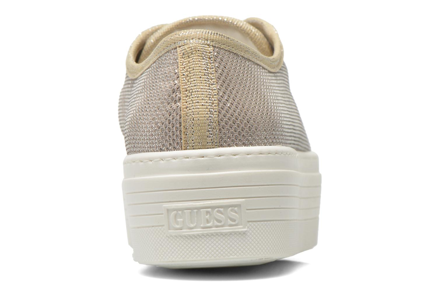 Trainers Guess Branka Bronze and Gold view from the right