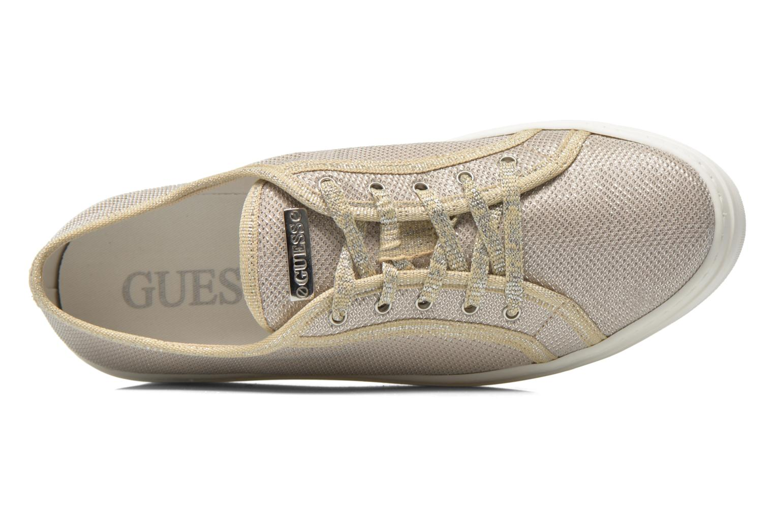 Trainers Guess Branka Bronze and Gold view from the left