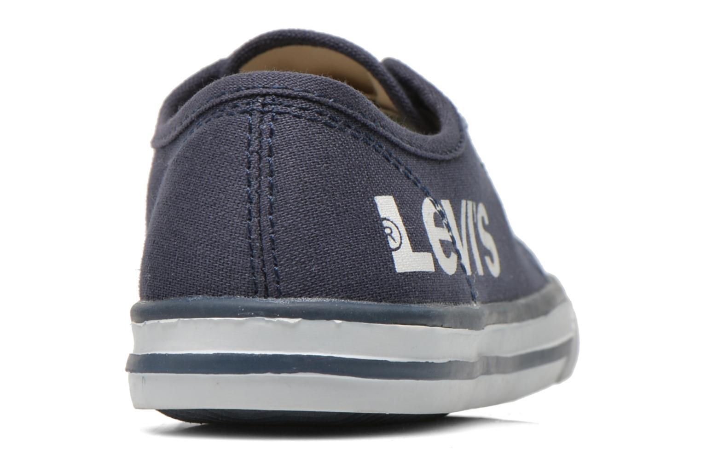 Deportivas Levi's Gong Azul vista lateral derecha