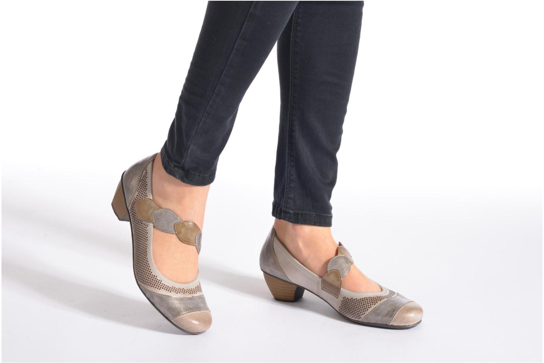 High heels Rieker Wed 41755 Grey view from underneath / model view