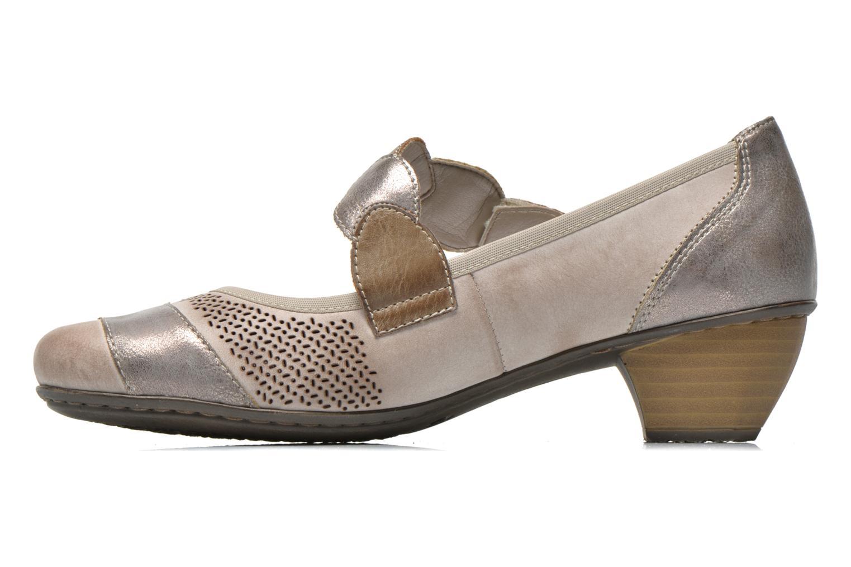 High heels Rieker Wed 41755 Grey front view