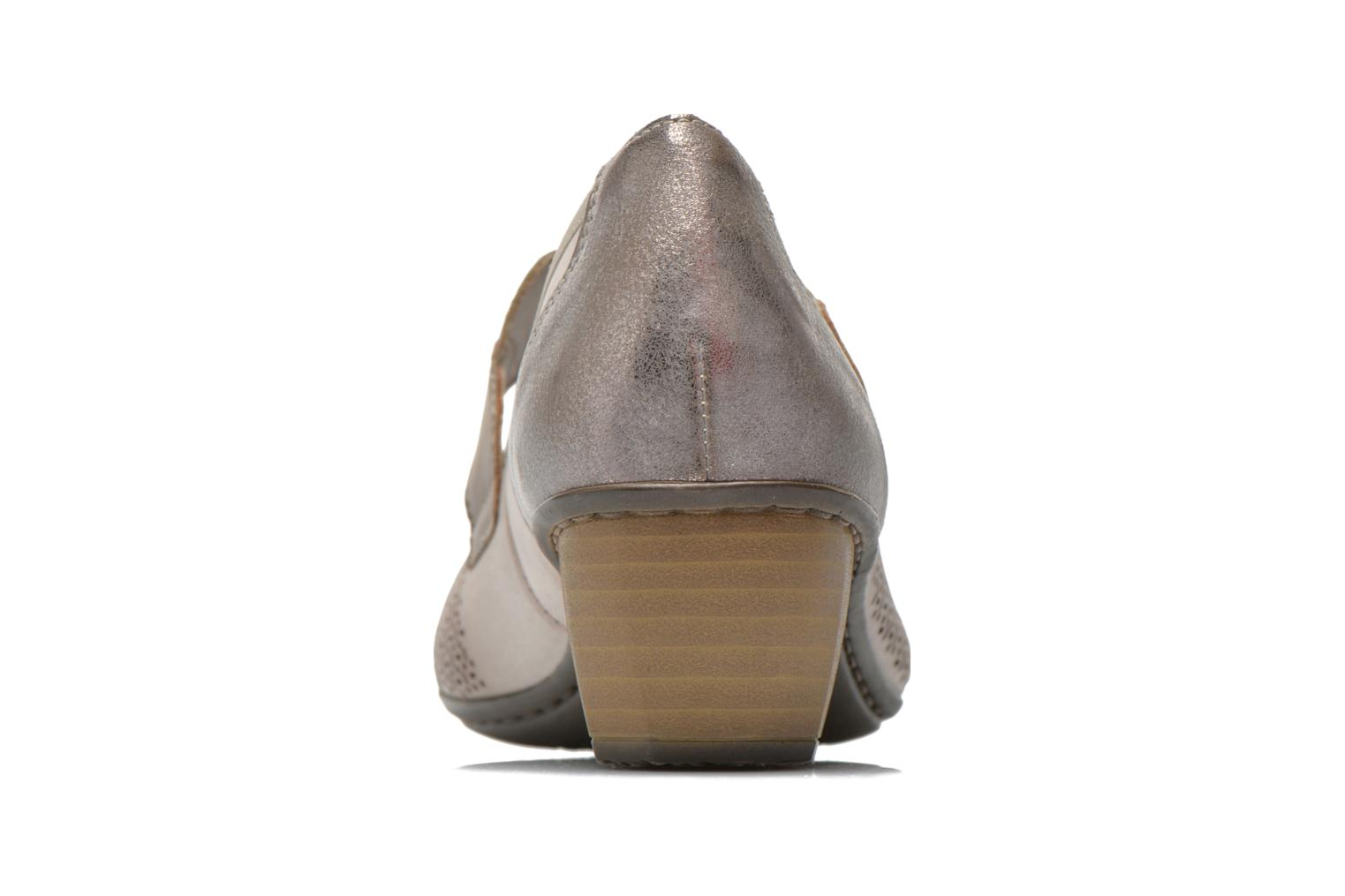 High heels Rieker Wed 41755 Grey view from the right