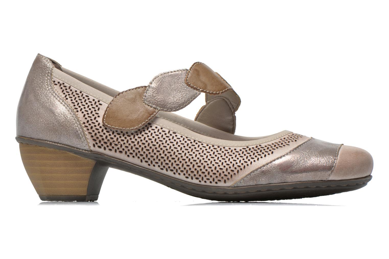 High heels Rieker Wed 41755 Grey back view
