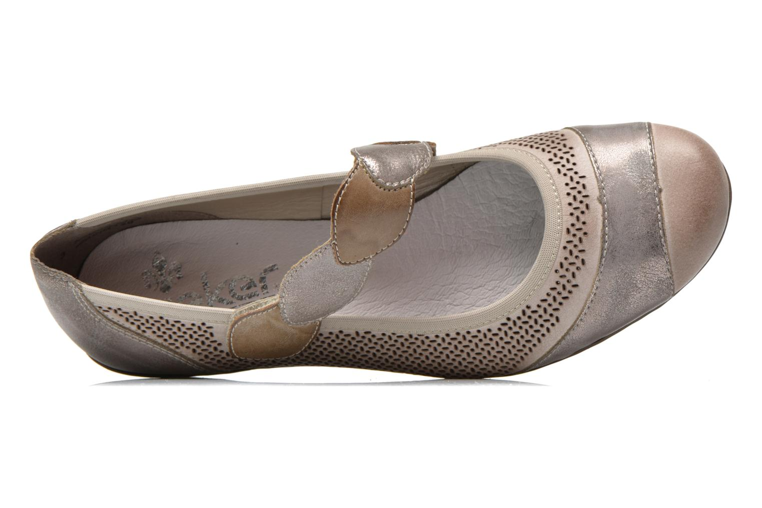 High heels Rieker Wed 41755 Grey view from the left