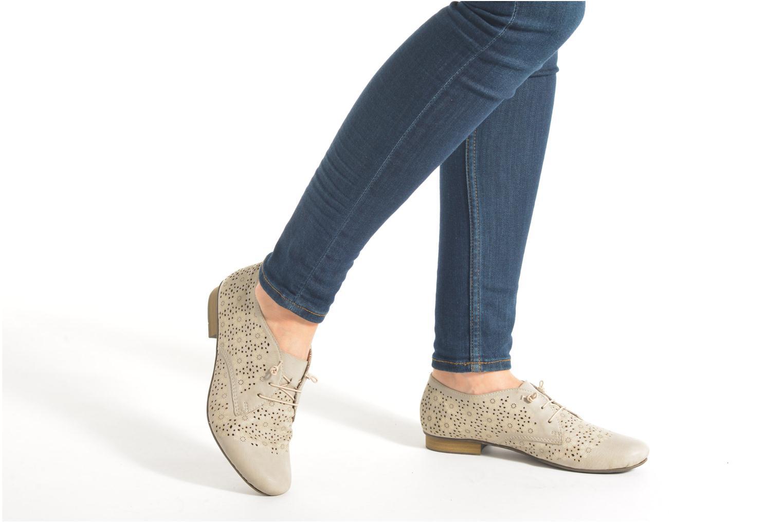 Zapatos con cordones Rieker Henry 51946 Beige vista de abajo