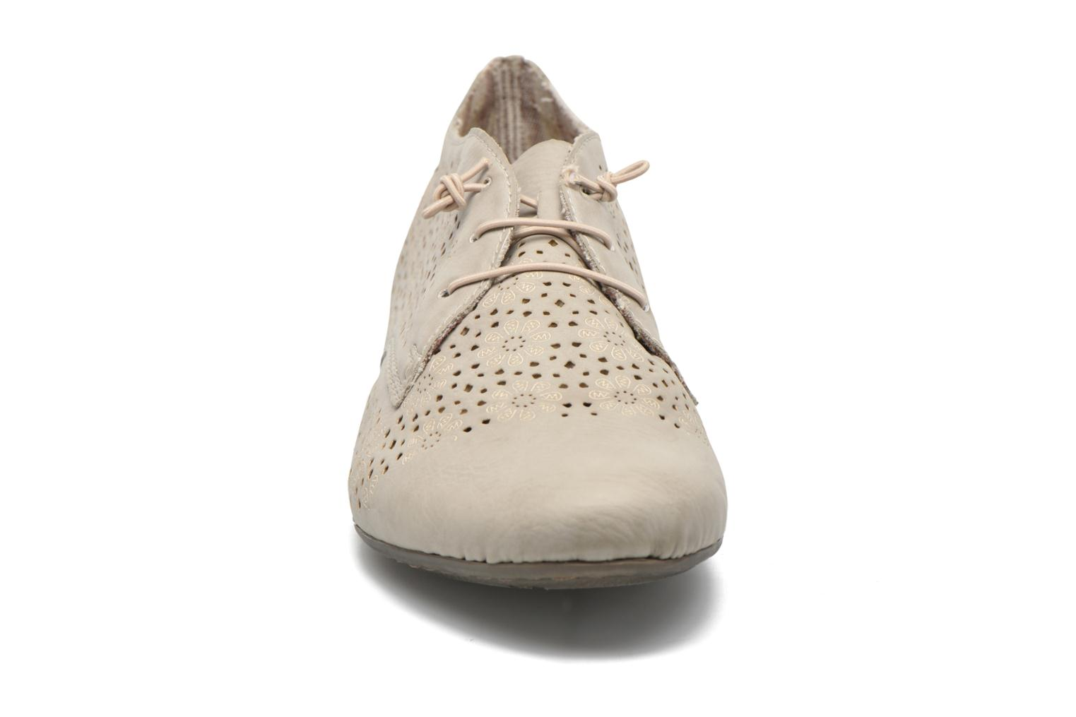 Lace-up shoes Rieker Henry 51946 Beige model view