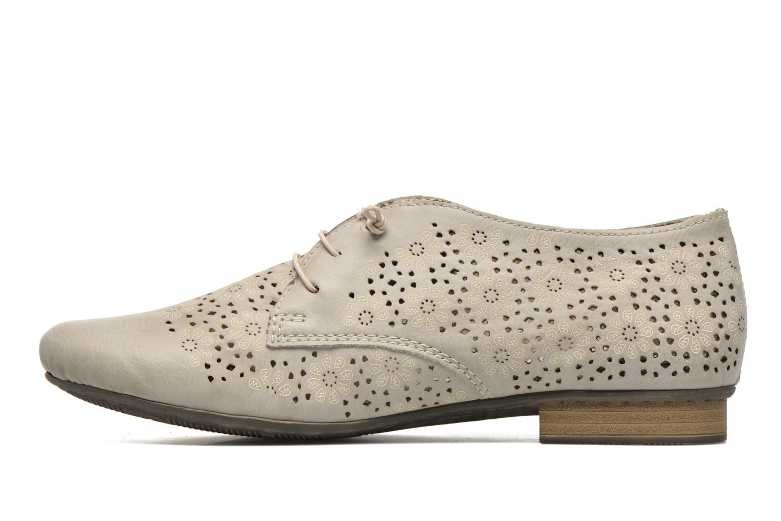 Lace-up shoes Rieker Henry 51946 Beige front view