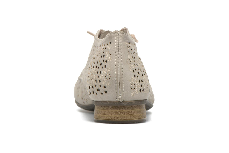 Zapatos con cordones Rieker Henry 51946 Beige vista lateral derecha