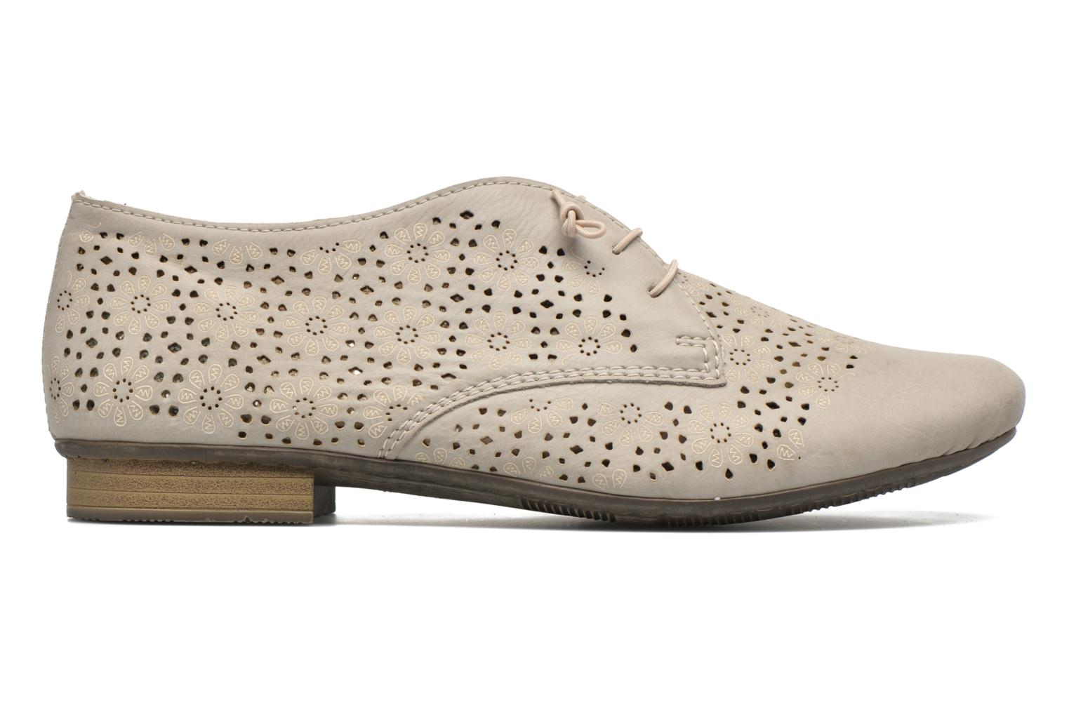 Lace-up shoes Rieker Henry 51946 Beige back view