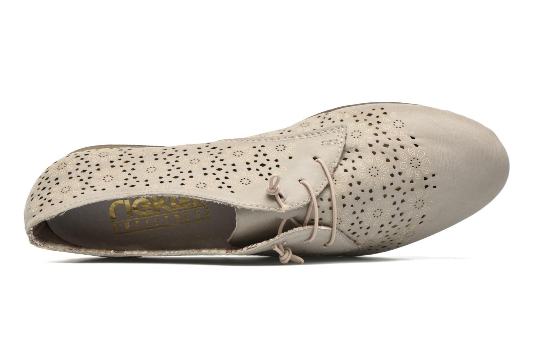 Zapatos con cordones Rieker Henry 51946 Beige vista lateral izquierda