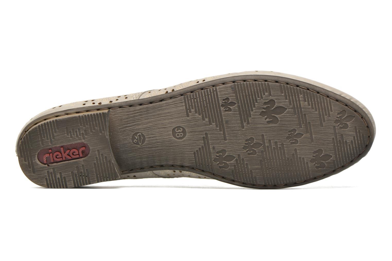 Zapatos con cordones Rieker Henry 51946 Beige vista de arriba