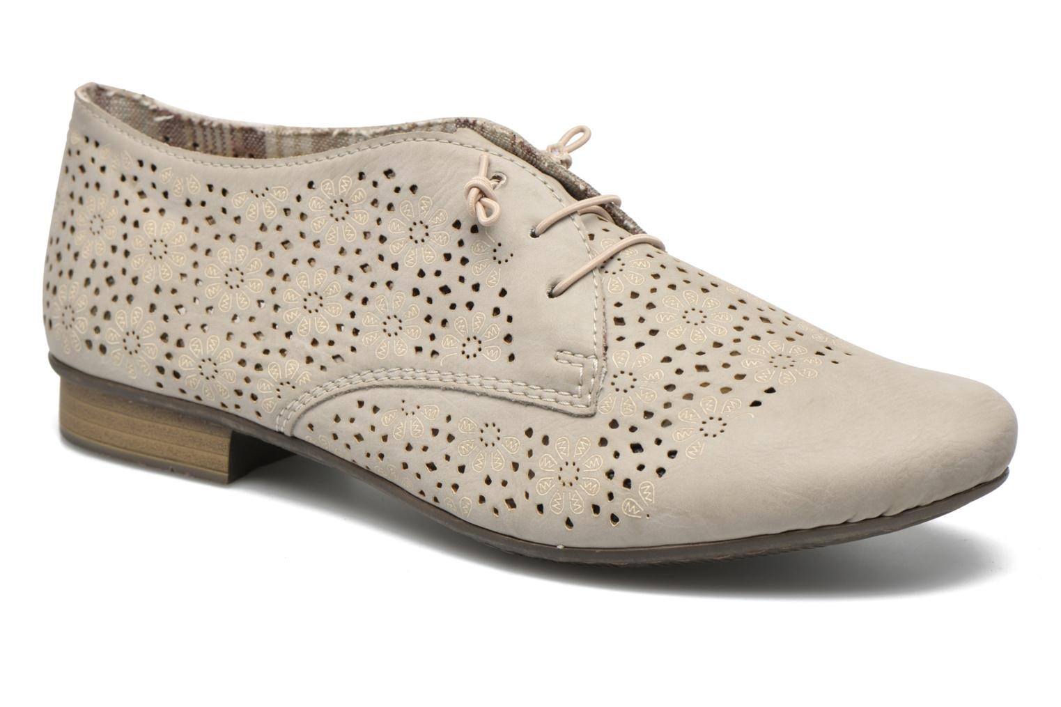 Lace-up shoes Rieker Henry 51946 Beige detailed view/ Pair view