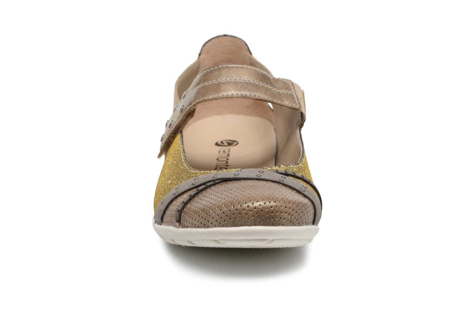 Ballet pumps Remonte Teen D4627 Bronze and Gold model view